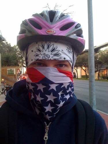 It was a cold bike ride downtown today.