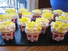 Popcorn Cupcakes (Kid's Birthday Parties) Tags: birthday party cupcakes marshmallows popcorn movienight partytheme popcornparty popcorncupcakes movienightcupcakes moviepartysnacks popcorncups movienightparty movienightpartyideas popcornpartysupplies