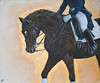 A Test Well Done (Patricia Clark) Tags: horse animal pencil painting artwork drawing pass half rider equestrian oils acrylics equine dressage piaffe