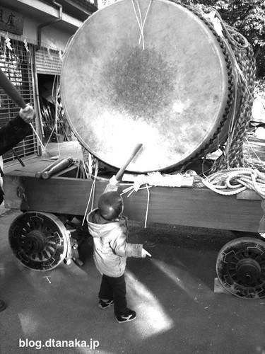 獅子舞と太鼓