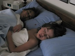 Sleeping at Nana's (edenpictures) Tags: bed mommy eden asleep janine picnik