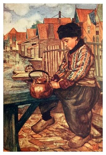 024-Una muchacha limpiando una tetera-Holland (1904)- Nico Jungman