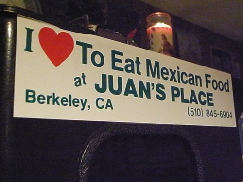 I love to eat mexican food at Juan's place