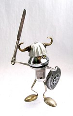 Forg - Found Object Robot Assemblage Sculpture by Brian Marshall (adopt-a-bot) Tags: show old fiction red sculpture anime art cup kitchen goofy monster collage metal museum trash vintage movie fun toy found toys design robot junk aluminum funny artist comic gallery technology geek tech transformer recycled handmade folk outsider antique assemblage object space brian alien cartoon craft fork can science retro marshall robots gift future present blender fi meter unusual etsy recycle creature brass robotics sculptures scoop futuristic tester sci appliances volt reuse reduce reused
