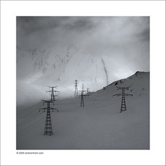 March of the Pylons (Ian Bramham) Tags: snow mountains alps photography photo nikon power fineart pylons mtblanc d40 ianbramham