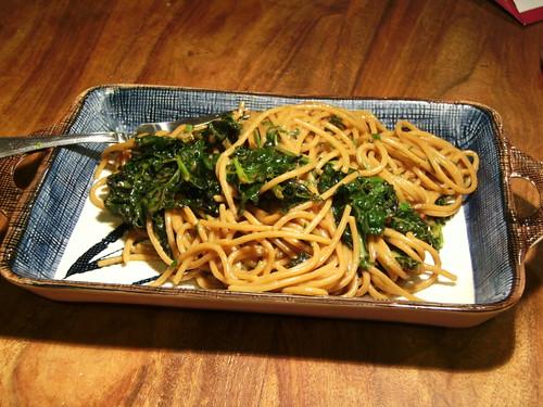 peanut noodles with kale