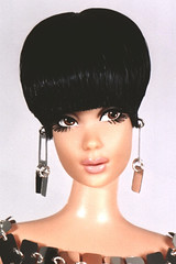 Peggy Moffitt (Flint :o)) Tags: fashion 60s ooak barbie hautecouture fashiondoll mattel custommade pacorabanne vidalsassoon designerdoll repaint reroot peggymoffitt metaldress