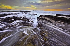 Laguna Beach - Davenport, California, USA (Rich Capture) Tags: ocean california sunset wild usa santacruz seascape beach wet water beautiful rock clouds canon landscape fun eos waterfall interesting colorful surf raw waves wind tripod richard cascades mussels davenport clams powerful gitzo lagunabeach exciting formations tms crevice cascading barnicles tellmeastory algee topseven leefilters platinumphoto g1178m ef1635mmf28lii 5dmark2 richardmatyskiewicz matyskiewicz g026