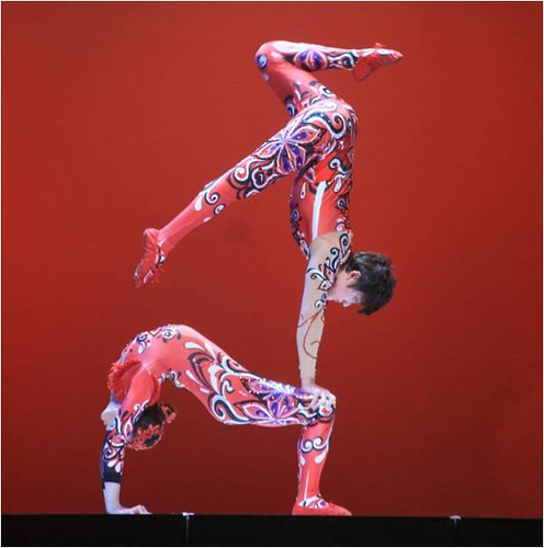 "The incredibly talented  Liu Jiayin and Bai Chunpu perform ""Modern Soft Acrobatism."""
