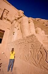 Legs (Matt Champlin) Tags: morning woman sun sexy sahara girl statue canon giant sand skies desert legs egypt sigma lookingup nile tiny huge giants aswan ramses leggy ramsesii longlegs towering abusimbel nassar sigma1020 feelingsmall