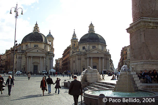 Piazza del Popolo. © Paco Bellido, 2004