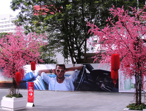 Fragrance of Post-Modernity. Calvin KIein, Jamie Dornan, Bob Dylan in Pink Kuala Lumpur, Malaysia
