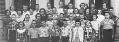 Students of Grades 7 and 8 of St John School in Seward, Nebraska, in 1952