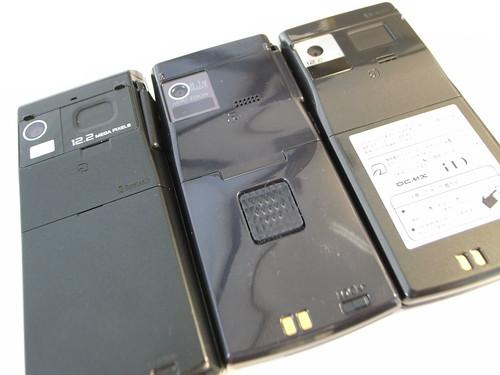 F-01B、F-02-B、F-03Bの黒っぷりを比較