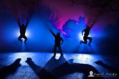 Jump Up (David Parks - davidparksphotography.com) Tags: david color oklahoma silhouette fog night jump nikon long exposure flash tripod parks mount part d200 edmond
