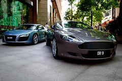 Aston Martin DB9 & Audi R8 (alleggerita) Tags: race climb nice martin hill kuala audi kl aston berjaya lumpur combination numberplate versus combo r8 db9 nicenumberplate