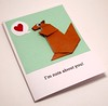 Origami Squirrel Card