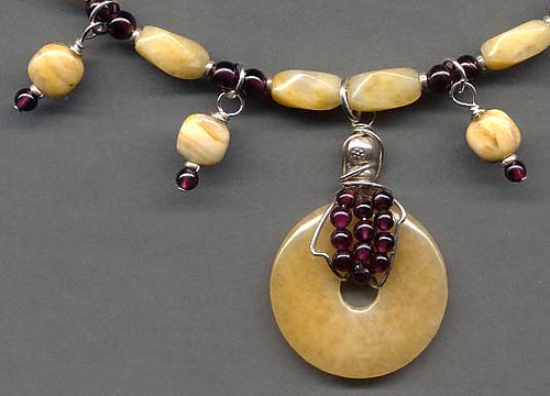 Yellow Jade and Garnet