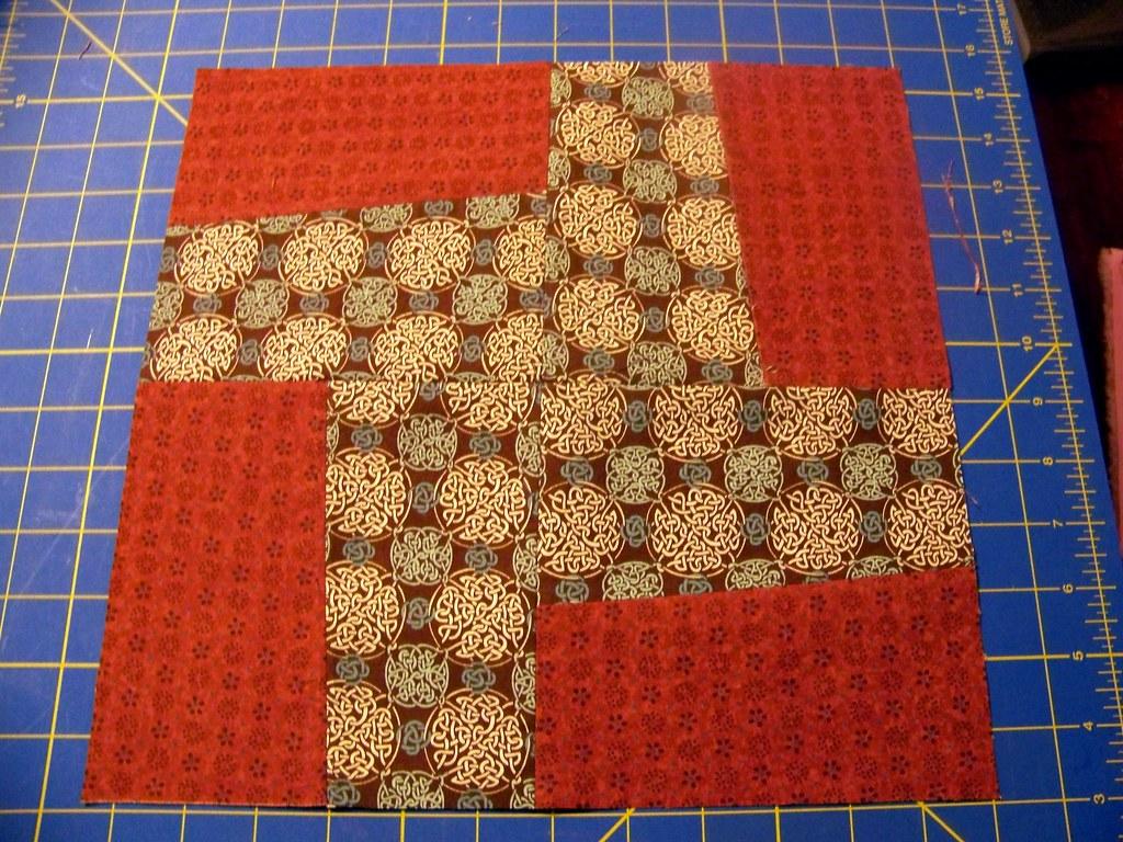 Tracy's wonky pinwheel block 2