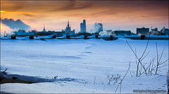 Winter landscape (Dmitry Mordolff) Tags: life street travel winter light sunset sky urban sunlight house snow building tower skyline architecture night skyscraper outdoors office site twilight construction downtown cityscape exterior view traffic russia crane dusk moscow district horizon cities scene panoramic aerial illuminated steam business tall residential cloudscape kremlin fume