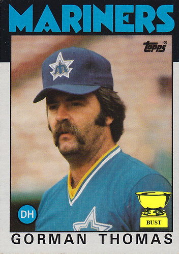 Baseball Card Bust: Gorman Thomas, 1986 Topps