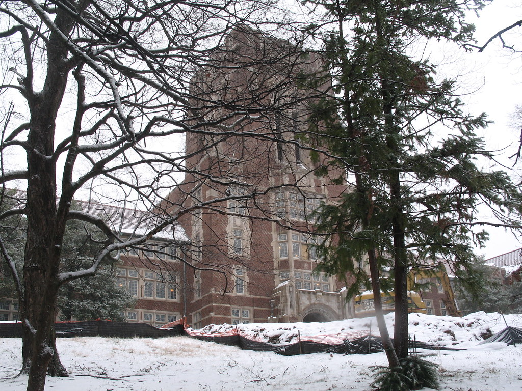 Ayers Hall in the Snow