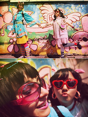 (k.h y o) Tags: pink blue girls colors fashion japan angel glasses wings heart harajuku decora patronato