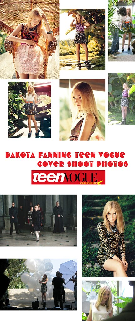 Dakota Fanning Teen Vogue Cover Shoot Photos 6