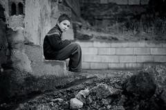 [フリー画像] [人物写真] [子供ポートレイト] [外国の子供] [少年/男の子] [モノクロ写真]      [フリー素材]