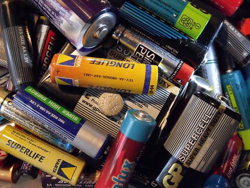 Použité baterie - Ilustrační obrázek