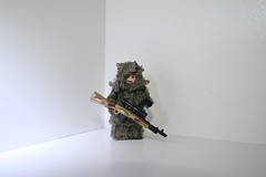 sniper in ghillie suit (kenneth nielsen a.k.a Qenhyt) Tags: 2 modern for mod paint lego military duty cal ba camoflage cod multi warfare multicam mw2 constest brickarms