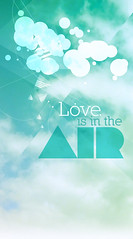 And all around (enaniza) Tags: blue sky green love geometric clouds composition poster typography heaven geometry circles air romantic dots typo tipografia geometria morphology morfologia leticialeoz