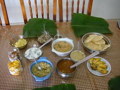 dsc03773 (MoNOloGuE0) Tags: cuisine kerala banana onam buttermilk pappadam achar payasam sadya avial onasadya