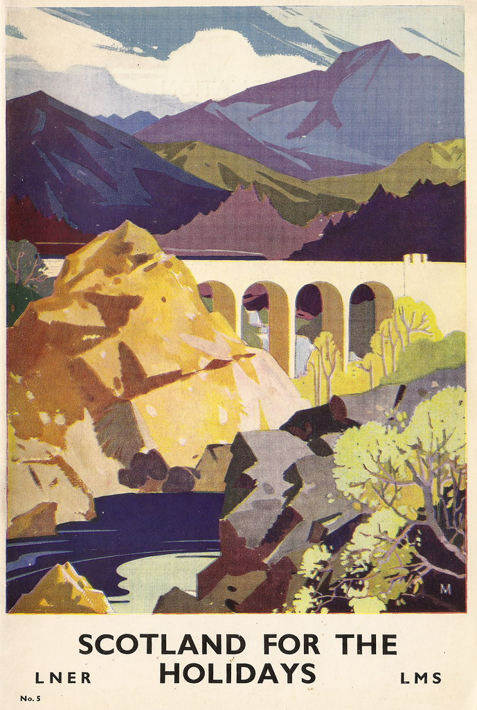 Scotland for the Holidays - railway brochure issued by the London Midland & Scottish Railway/London & North Eastern Railway - 1939