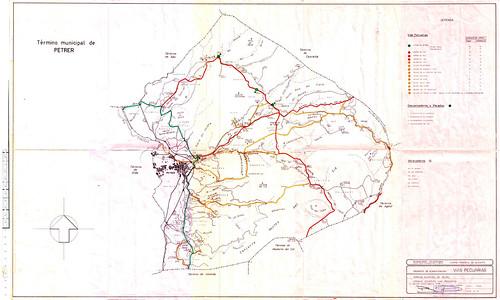 Cañadas, descansaderos y abrevaderos del término de Petrer