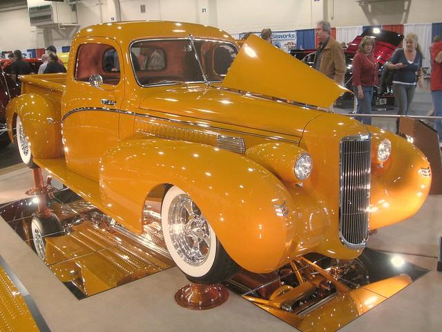 ford 1948 yellow truck pickup f1 custom