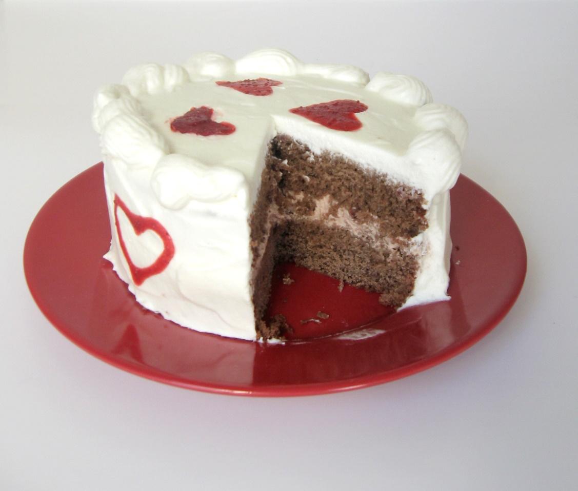 Velvet cake sliced