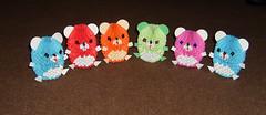 Blueblue5 tags cute colors paper 3d origami teddy bears modular
