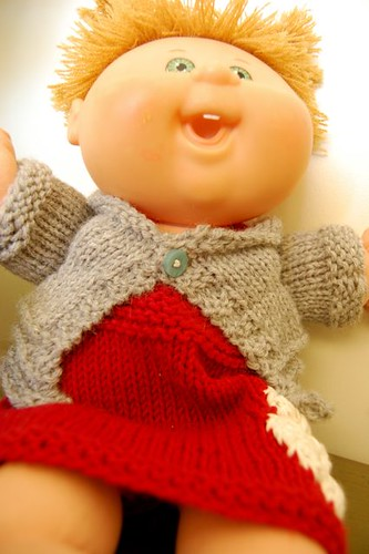 knitted doll sweater