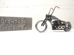 welding sculpture nuts and bolts motorcycle Sportster Ironhead