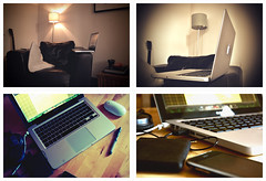 Working From Home (the tartanpodcast) Tags: home 13 workingfromhome macbookpro webworker unibody homeworker