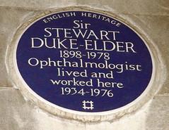 Photo of Stewart Duke-Elder blue plaque