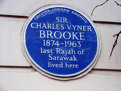 Photo of Charles Vyner Brooke blue plaque