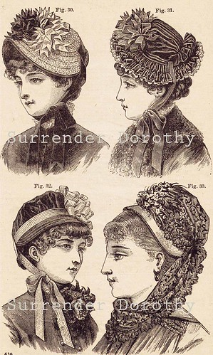 4 Ladies Hats Victorian Ladies Fashions From The Late 1800s - a ... 4f434f1c59d