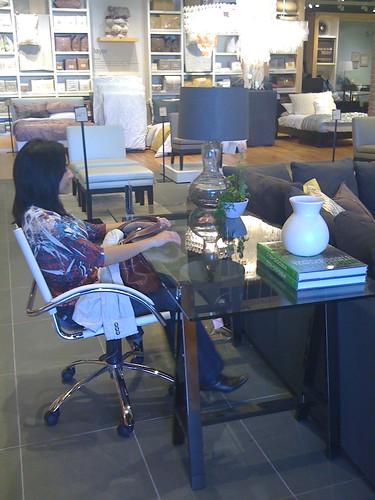 West Elm dream desk set up