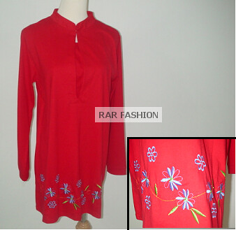 Red cotton nursing wear