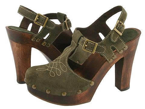 michael kors olive suede wood platforms 6pm