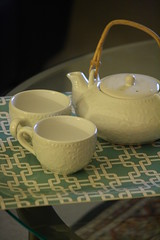 {evenings are for tea} (Perpetual*Bliss) Tags: evening tea cups tray teapot