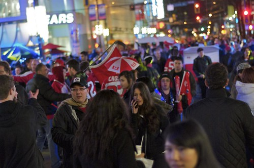 Vancouver 2010: Day 13 - Robson Square at night