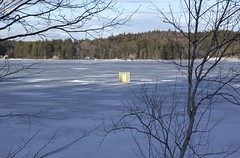Sinking Bob House (3) (Andre Reno Sanborn) Tags: icefishing websterlake franklinnh bobhouses